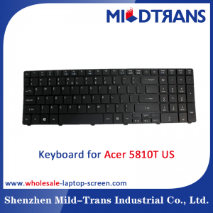 High quality and alibaba china supplier laptop keyboard for Acer 5810T