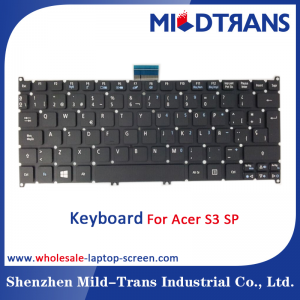 SP Laptop KEyBOARD For Acer S3