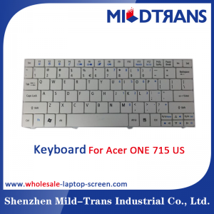US Laptop Keyboard FOR Acer one 715