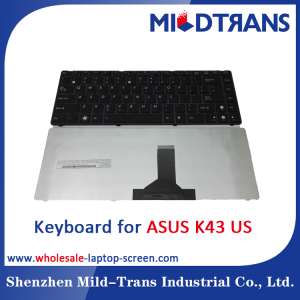 US Laptop Keyboard for ASUS K43