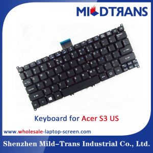 US Laptop Keyboard for Acer S3