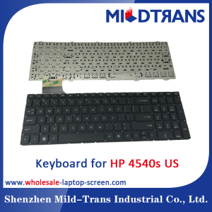 US Laptop Keyboard for HP 4540S