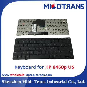 US Laptop Keyboard for HP 8460p