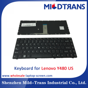 US Laptop Keyboard for Lenovo Y480