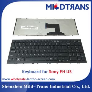 US Laptop Keyboard for Sony EH