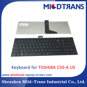 US Laptop Keyboard for TOSHIBA C50-A