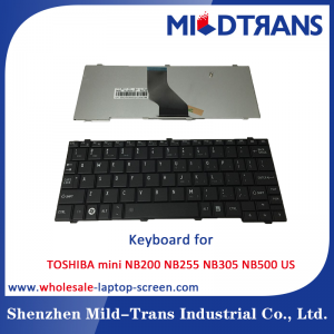 US Laptop Keyboard for TOSHIBA mini NB200 NB255 NB305 NB500