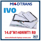 "China 14.0"" IVO WLED backlight notebook computer TFT LCD M140NWT1 R0 1366×768 cd/m2 200 C/R 500:1 factory"