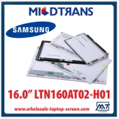 "China 16.0"" SAMSUNG CCFL backlight notebook computer TFT LCD LTN160AT02-H01 1366×768 cd/m2 200 C/R 600:1 factory"