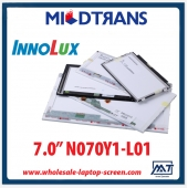 "중국 7.0"" Innolux CCFL backlight laptops LCD panel N070Y1-L01 800×480 cd/m2 250 C/R 400:1  공장"