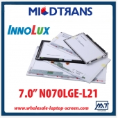 "China 7.0"" Innolux WLED backlight notebook LED display N070LGE-L21 1024×600 cd/m2 350 C/R 750:1 factory"