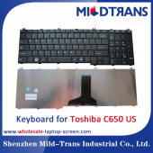 China Brand new original alibaba best laptop keyboard supplier US language Toshiba C650 factory