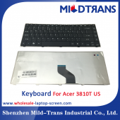 China High quality US layout laptop keyboard for Acer 3810T factory