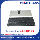 China US Laptop Keyboard for ASUS N43 factory